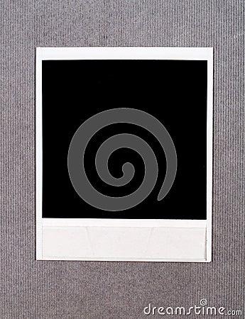 Blank instant photo frame
