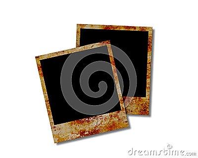 Blank instant photos.