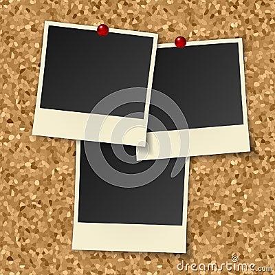 Blank instant photos