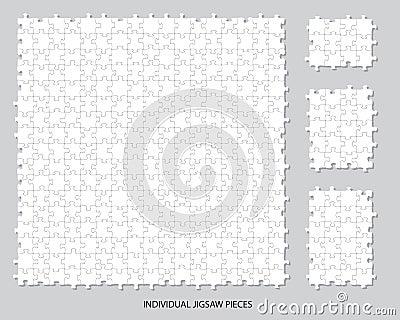 Blank jigsaw pieces