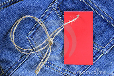 Blank label for text on jeans