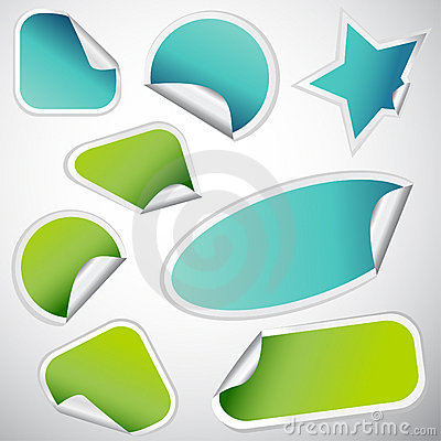 Free Blank Label Vector Royalty Free Stock Image - 17379176