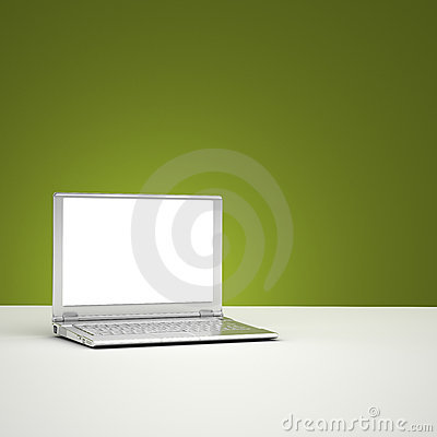 Blank laptop screen