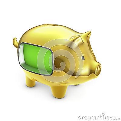 Blank LCD piggy bank