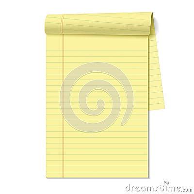 Blank legal pad