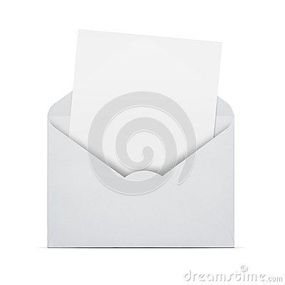 Free Blank Letter In An Envelope Stock Photo - 29876460