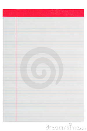 Blank Letter Size Ruled Paper Stationary Notepad
