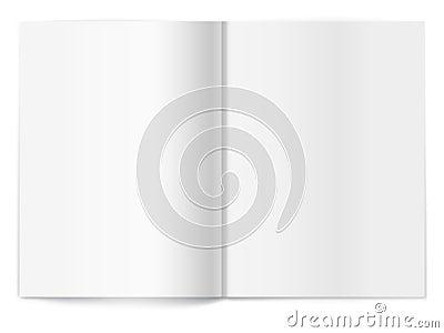 Blank magazine  spread. Template for design