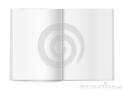 Blank magazine on white background. Template