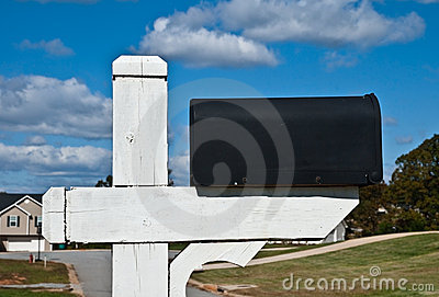 Blank Mailbox and Sky