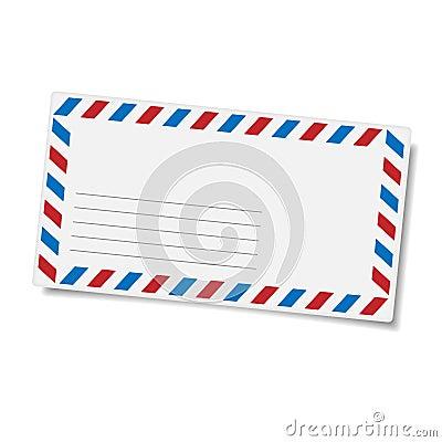Blank mailing envelope