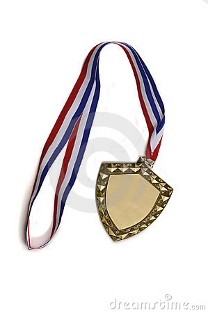 Blank Medallion with Ribbon