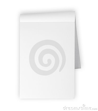 Free Blank Memo Pad Isolated On White Royalty Free Stock Images - 13523789