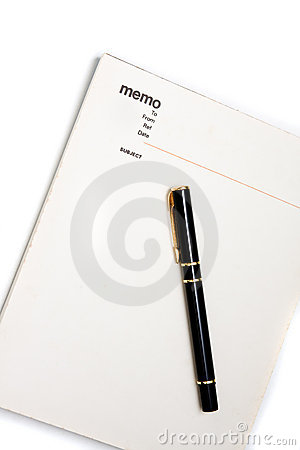 Blank Memo Pad Notebook Royalty Free Stock Photos - Image: 10481538
