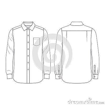 blank mens shirt stock vector image 52832738