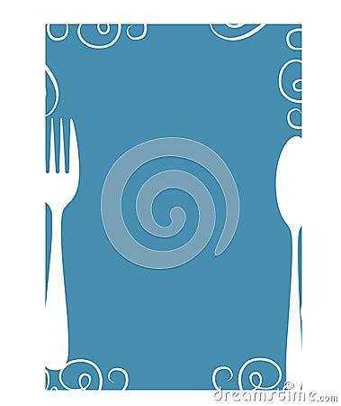Blank Menu Stock Photo Image 13599810
