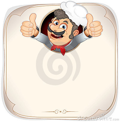 Free Blank Menu With Cook Stock Images - 20048064