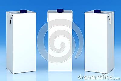 Blank milk boxes