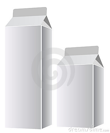 Blank milk or juice packages