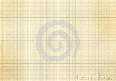 Blank millimeter old graph paper
