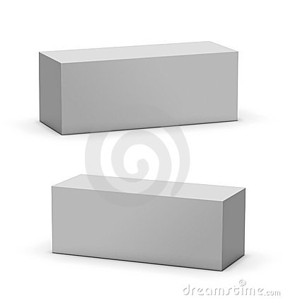 Blank Mock-up Box