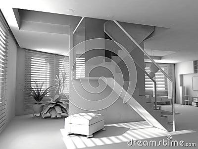 Blank modern interior