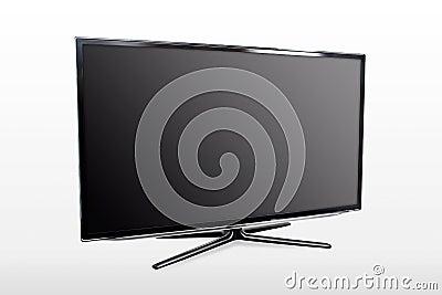 Blank modern widescreen TV