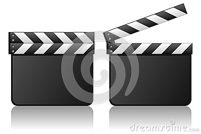 Blank Movie Clapboard Film Slate
