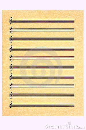 Blank Music Sheet-Treble Clef