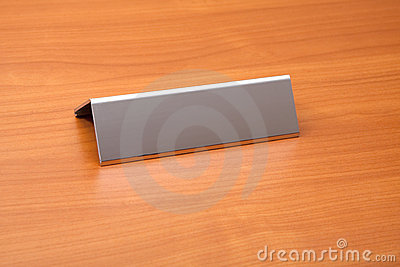 Blank Name Plate