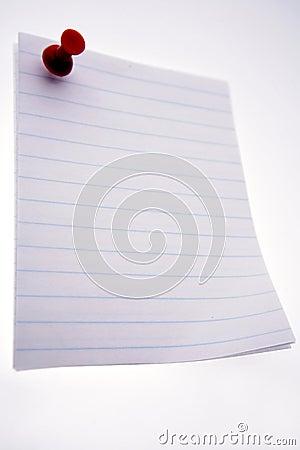 Blank note on Message Board