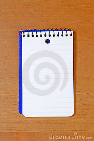A blank note pad