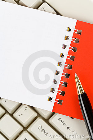 Blank Note Pad and Keyboard