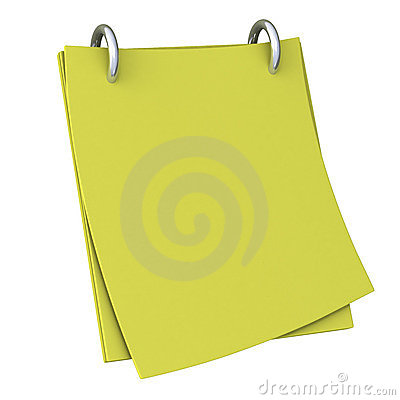 Blank note paper 3d
