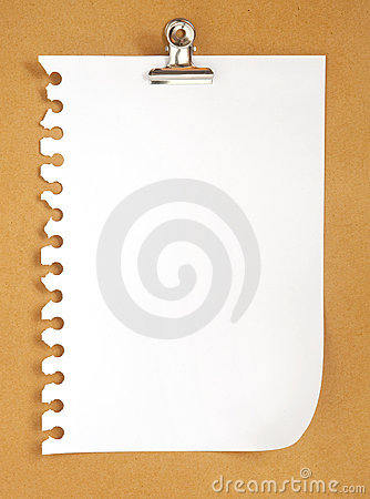 Free Blank Note Paper On Cardboard Background Royalty Free Stock Image - 17573906