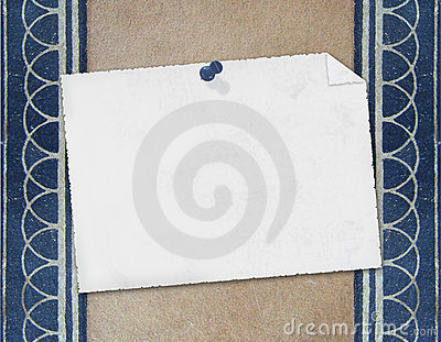 Blank note paper on textured background