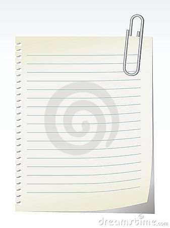 Free Blank Note - Vector Royalty Free Stock Images - 2903619