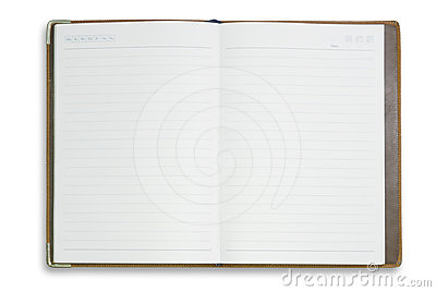 Blank notebook for background and text