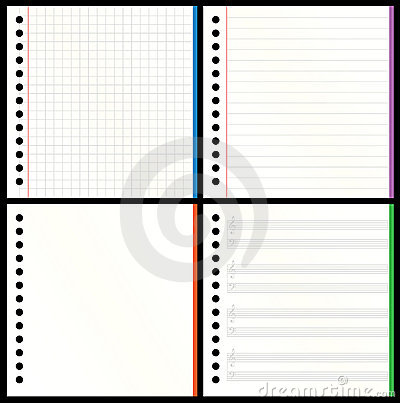 Notebook Pages With Spiral Binding In The Middle Stock Photo ...