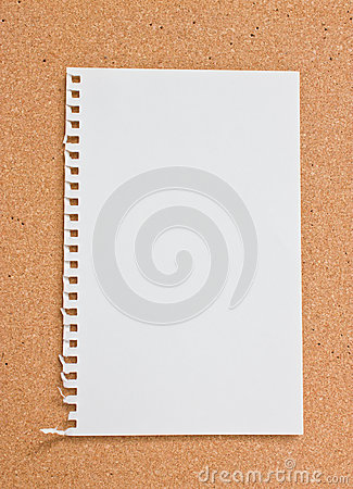 Blank notepad.