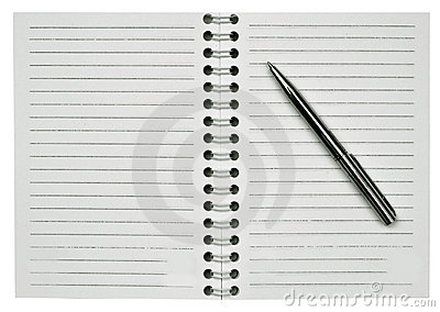 Blank notepad and one pen