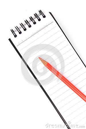 Blank notepad and pastel