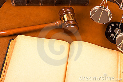 Blank old book and Legal system