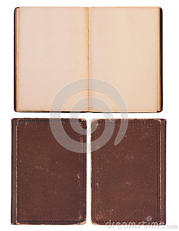 Blank, old book