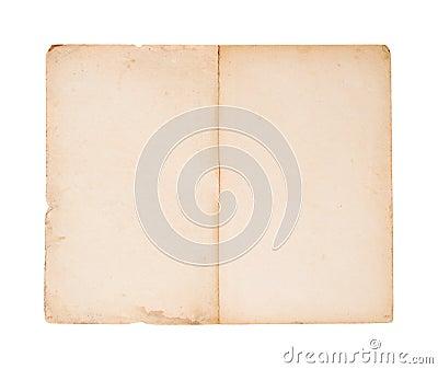 Blank old brochure