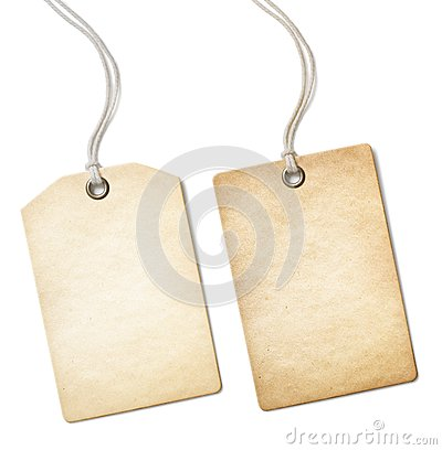 Free Blank Old Paper Price Tag Or Label Set Isolated On Royalty Free Stock Photos - 46387858