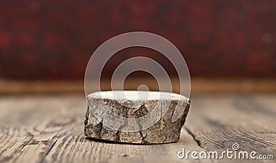 Blank old wooden stump