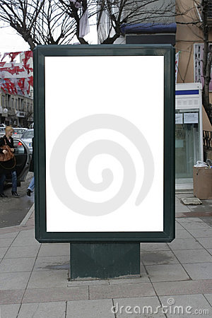 Blank One Vertical Poster Billboard - Including cl
