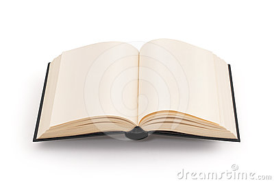 Blank open book - clipping path