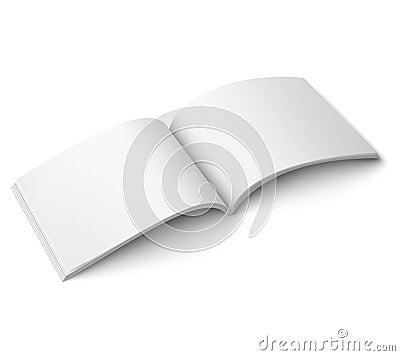 Blank open magazine template. Wide format Vector Illustration
